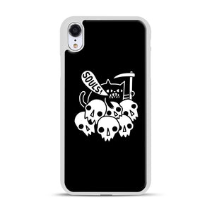 Cat Got Your Soul iPhone XR Case, White Rubber Case | Webluence.com