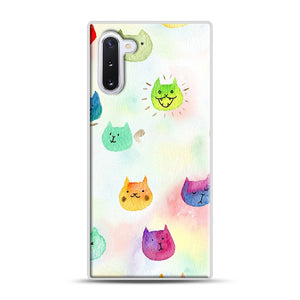 Cat confetti 1 Samsung Galaxy Note 10 Case, White Plastic Case | Webluence.com