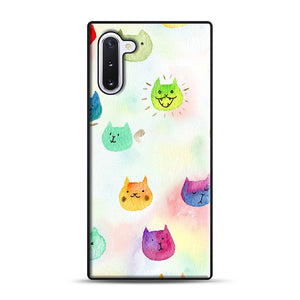 Cat confetti 1 Samsung Galaxy Note 10 Case, Black Rubber Case | Webluence.com