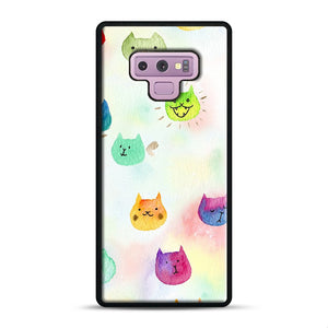 Cat confetti 1 Samsung Galaxy Note 9 Case, Black Rubber Case | Webluence.com
