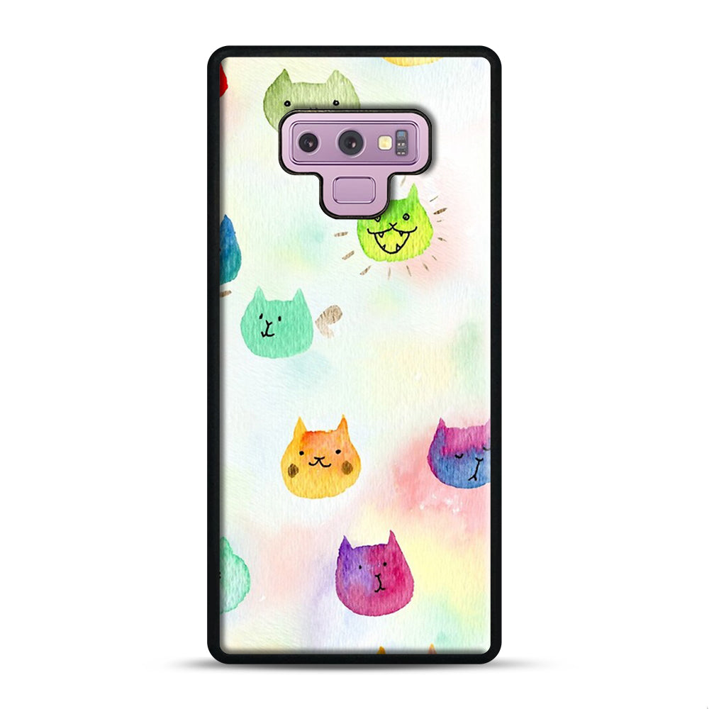 Cat confetti 1 Samsung Galaxy Note 9 Case, Black Plastic Case | Webluence.com