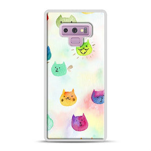 Cat confetti 1 Samsung Galaxy Note 9 Case, White Rubber Case | Webluence.com