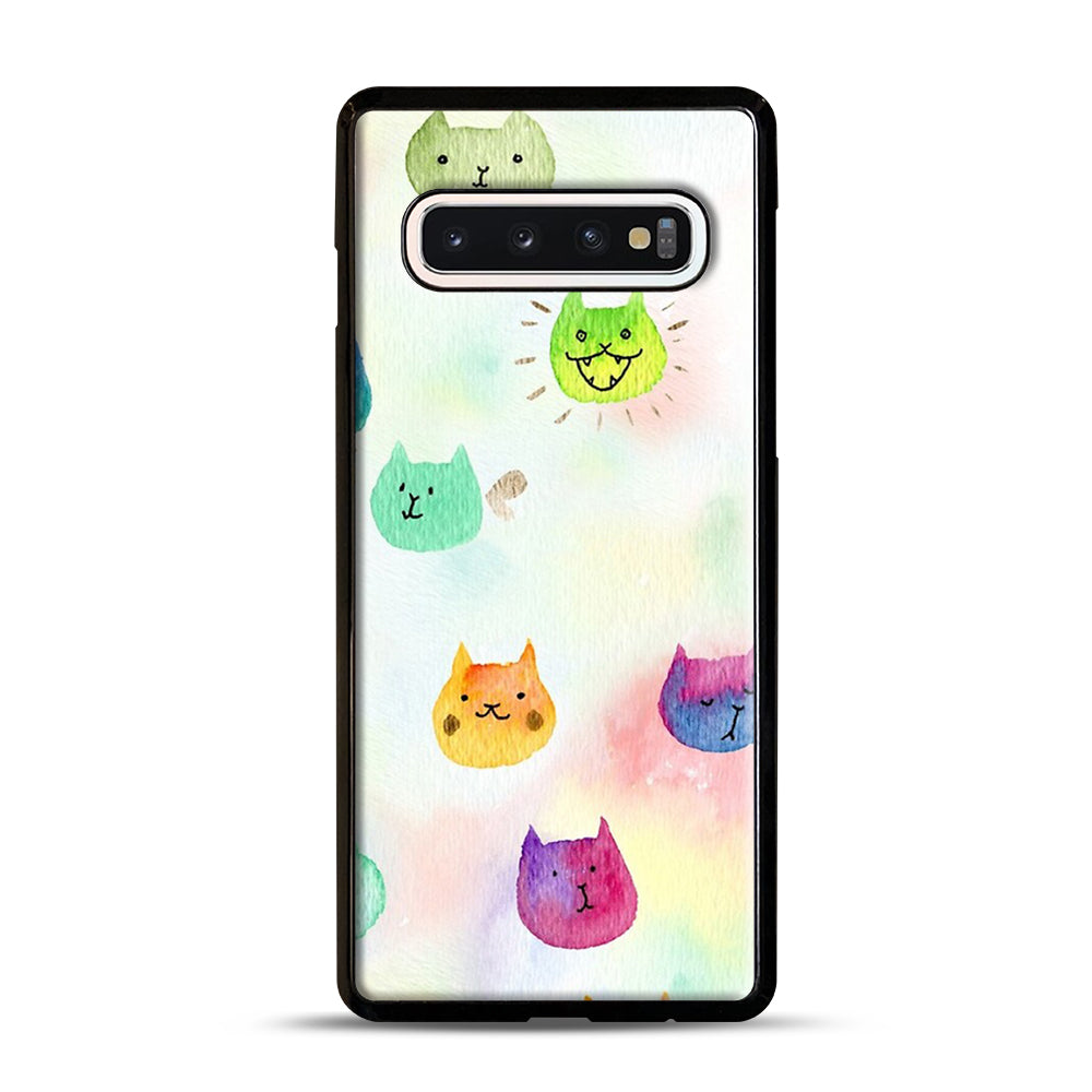 Cat confetti 1 Samsung Galaxy S10 Case, Black Plastic Case | Webluence.com