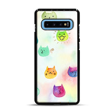 Load image into Gallery viewer, Cat confetti 1 Samsung Galaxy S10 Plus Case, Black Rubber Case | Webluence.com