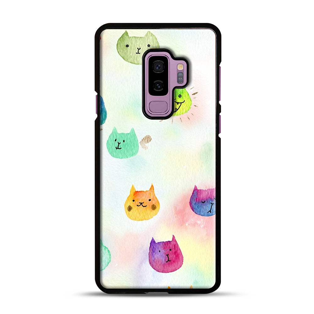 Cat confetti 1 Samsung Galaxy S9 Plus Case, Black Plastic Case | Webluence.com