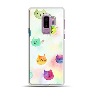 Cat confetti 1 Samsung Galaxy S9 Plus Case, White Rubber Case | Webluence.com