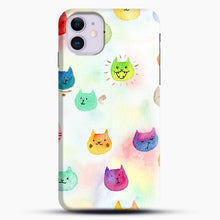 Load image into Gallery viewer, Cat confetti 1 iPhone 11 Case.jpg, Snap Case | Webluence.com