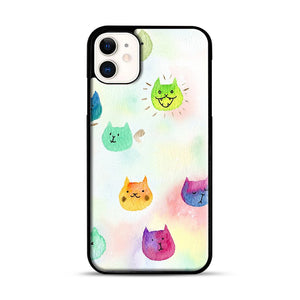 Cat confetti 1 iPhone 11 Case.jpg, Black Rubber Case | Webluence.com