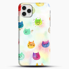 Load image into Gallery viewer, Cat confetti 1 iPhone 11 Pro Case, Snap Case | Webluence.com