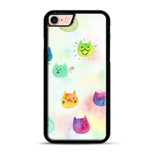 Load image into Gallery viewer, Cat confetti 1 iPhone 7/8 Case.jpg, Black Rubber Case | Webluence.com