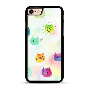 Cat confetti 1 iPhone 7/8 Case.jpg, Black Rubber Case | Webluence.com