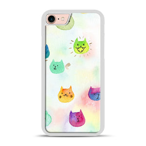 Cat confetti 1 iPhone 7/8 Case.jpg, White Rubber Case | Webluence.com