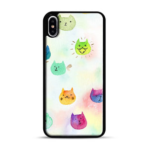 Cat confetti 1 iPhone XS Max Case, Black Rubber Case | Webluence.com
