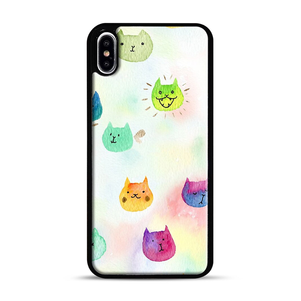 Cat confetti 1 iPhone XS Max Case, Black Plastic Case | Webluence.com