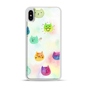 Cat confetti 1 iPhone XS Max Case, White Rubber Case | Webluence.com