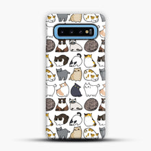 Load image into Gallery viewer, Cats Cats Cats Samsung Galaxy S10 Case, Snap Case | Webluence.com
