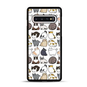 Cats Cats Cats Samsung Galaxy S10 Case, Black Rubber Case | Webluence.com