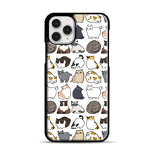 Load image into Gallery viewer, Cats Cats Cats iPhone 11 Pro Case, Black Rubber Case | Webluence.com