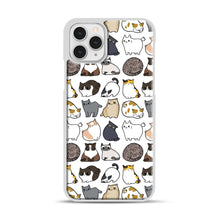 Load image into Gallery viewer, Cats Cats Cats iPhone 11 Pro Case, White Rubber Case | Webluence.com