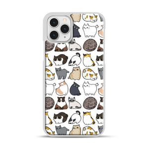 Cats Cats Cats iPhone 11 Pro Case, White Rubber Case | Webluence.com