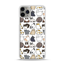 Load image into Gallery viewer, Cats Cats Cats iPhone 11 Pro Max Case.jpg, White Plastic Case | Webluence.com