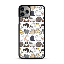 Load image into Gallery viewer, Cats Cats Cats iPhone 11 Pro Max Case.jpg, Black Plastic Case | Webluence.com
