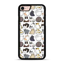 Load image into Gallery viewer, Cats Cats Cats iPhone 7/8 Case.jpg, Black Rubber Case | Webluence.com