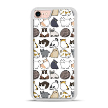 Load image into Gallery viewer, Cats Cats Cats iPhone 7/8 Case.jpg, White Plastic Case | Webluence.com