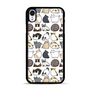 Cats Cats Cats iPhone XR Case, Black Rubber Case | Webluence.com