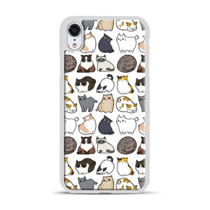 Cats Cats Cats iPhone XR Case, White Rubber Case | Webluence.com