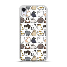 Load image into Gallery viewer, Cats Cats Cats iPhone XR Case, White Plastic Case | Webluence.com