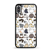 Load image into Gallery viewer, Cats Cats Cats iPhone X/XS Case, Black Rubber Case | Webluence.com