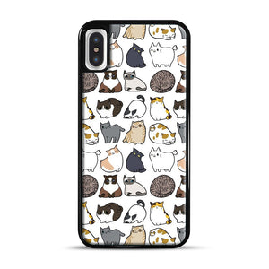 Cats Cats Cats iPhone X/XS Case, Black Rubber Case | Webluence.com