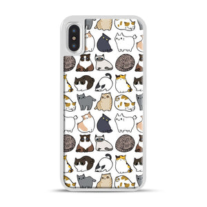 Cats Cats Cats iPhone X/XS Case, White Rubber Case | Webluence.com