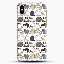 Load image into Gallery viewer, Cats Cats Cats iPhone X/XS Case, Snap Case | Webluence.com