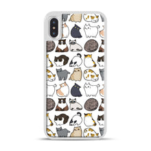 Load image into Gallery viewer, Cats Cats Cats iPhone X/XS Case, White Plastic Case | Webluence.com