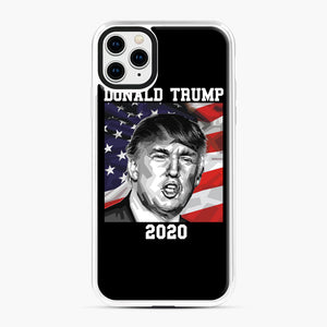 Check out this awesome 'American+President+Donald+Trump+2020' design iPhone 11 Pro Max Case, White Plastic Case | Webluence.com