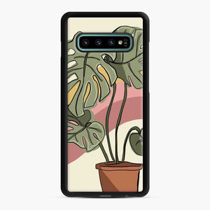 Cheeseplant Lines Seventies Samsung Galaxy S10 Plus Case