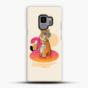 Chillin, Flamingo Tiger Samsung Galaxy S9 Case, Snap Case | Webluence.com