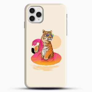 Chillin, Flamingo Tiger iPhone 11 Pro Case, Snap Case | Webluence.com