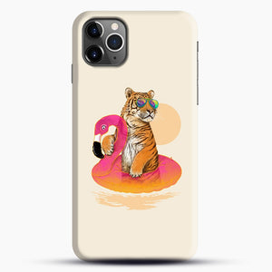 Chillin, Flamingo Tiger iPhone 11 Pro Max Case.jpg, Snap Case | Webluence.com