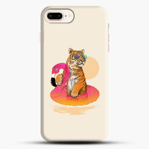Chillin, Flamingo Tiger iPhone 7 Plus/8 Plus Case, Snap Case | Webluence.com