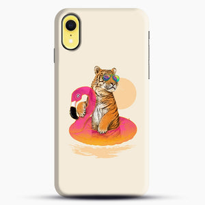 Chillin, Flamingo Tiger iPhone XR Case, Snap Case | Webluence.com