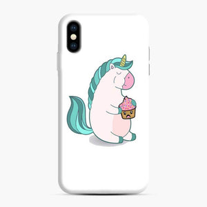 Chubby Hungry Unicorn Fortnite iPhone XS Max Case, Snap Case