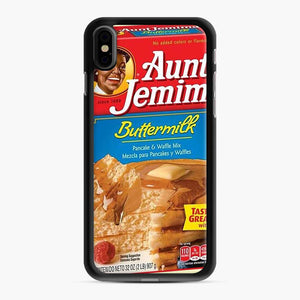 Classic Aunt Jemima iPhone XS Max Case, Black Rubber Case