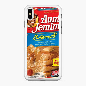 Classic Aunt Jemima iPhone XS Max Case, White Rubber Case