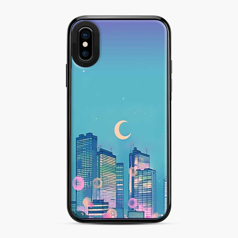 Classic Shoujo Skies Sailor Moon Scenery iPhone X/XS Case
