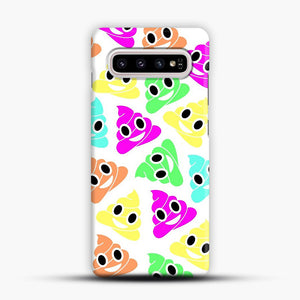 Colourful Poop Emojis Samsung Galaxy S10 Plus Case, Snap Case | Webluence.com