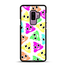 Load image into Gallery viewer, Colourful Poop Emojis Samsung Galaxy S9 Plus Case, Black Plastic Case | Webluence.com