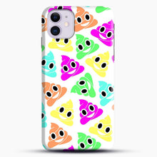 Load image into Gallery viewer, Colourful Poop Emojis iPhone 11 Case.jpg, Snap Case | Webluence.com